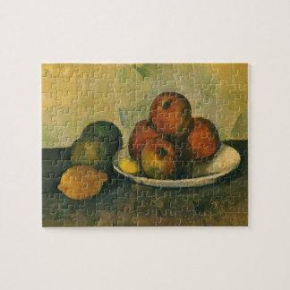 Puzzle Todavía vida con las manzanas de Paul Cezanne