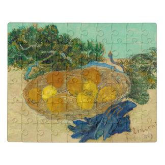 Puzzle Todavía vida de naranjas y de limones con el azul