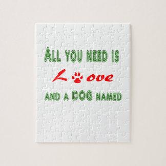 Puzzle Todo lo que usted necesita es amor y un perro