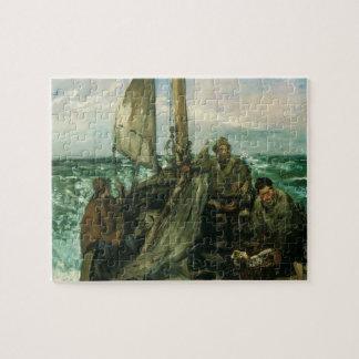 Puzzle Toilers del mar por Manet, impresionismo del