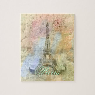 Puzzle Torre Eiffel femenina de moda hermosa Francia del