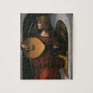 Puzzle Un ángel en rojo con un laúd de Leonardo da Vinci
