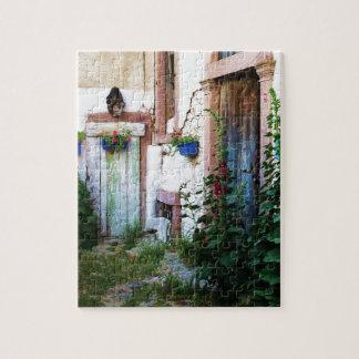 Puzzle Una puerta azul vieja rústica hermosa en CRETA, Gr