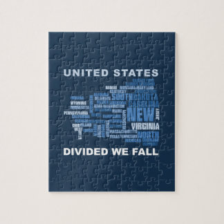 Puzzle United States Divided We Fall HQ Colored Gifts
