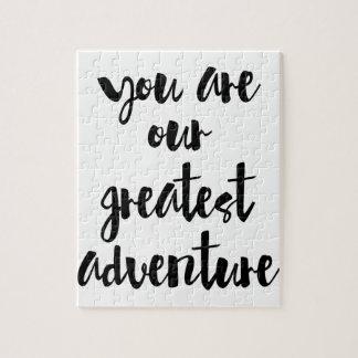 Puzzle Usted es nuestra cita más grande de la aventura