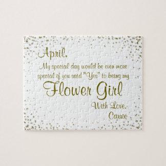 Puzzle ¿Usted será mi Flowergirl?