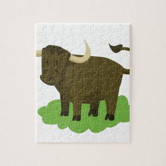 Puzzle vaca en la hierba