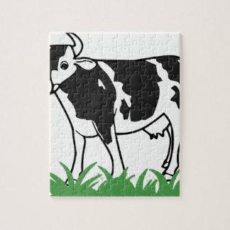 Puzzle Vaca manchada del MOO