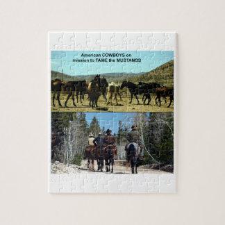 Puzzle Vaqueros americanos en viaje a los caballos del