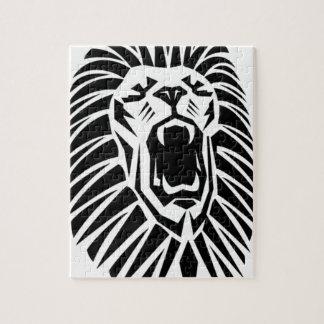 Puzzle vecto principal del león
