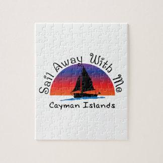 Puzzle Vela lejos conmigo Islas Caimán.