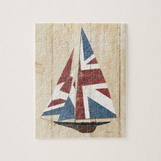 Puzzle Velero británico de la bandera