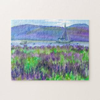 Puzzle Velero púrpura de los Wildflowers de los Lupines