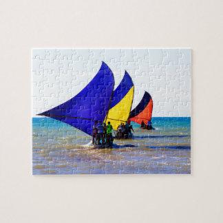 Puzzle Veleros coloridos de Jangadas del brasilen@o