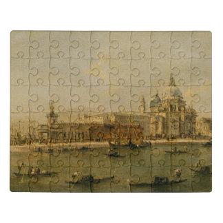 Puzzle Venecia saludo del della de Dogana y de Santa