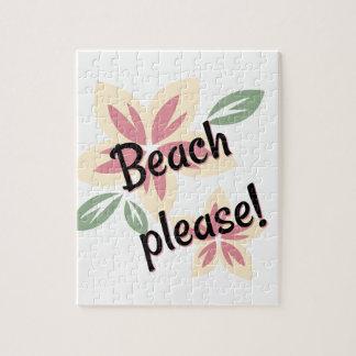 Puzzle Verano floral - playa por favor