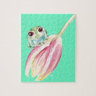 Puzzle Verde del Froggy