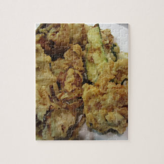 Puzzle Verduras crujientes empanadas y fritas con el