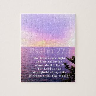 Puzzle VERSO INSPIRADO de la BIBLIA del 27:1 del salmo