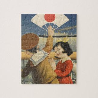 Puzzle Viaje Japón del vintage