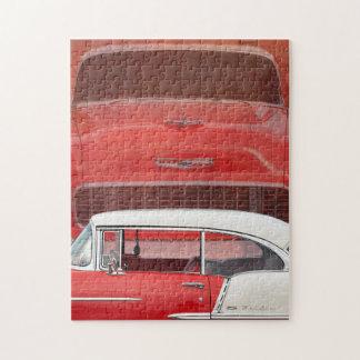 Puzzle Vintage blanco rojo de Dodge de los coches del Bel