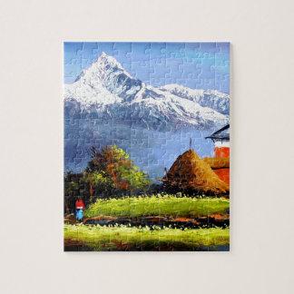 Puzzle Vista panorámica de la montaña hermosa de Everest
