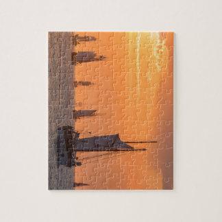 Puzzle Windjammer en luz de la puesta del sol