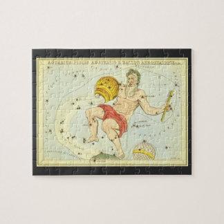 Puzzle Zodiaco de la constelación del acuario de la