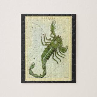 Puzzle Zodiaco de la constelación del escorpión de la