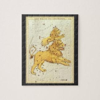 Puzzle Zodiaco de la constelación del león de Leo de la