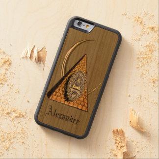 Pyramoon Funda Protectora De Cerezo Para iPhone 6 De Carved