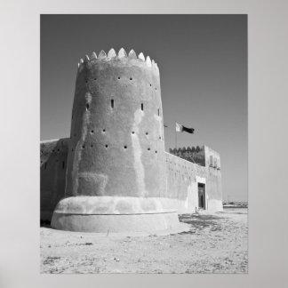 Qatar, Al Zubarah. Fuerte del al-Zubarah (b.1938)  Póster