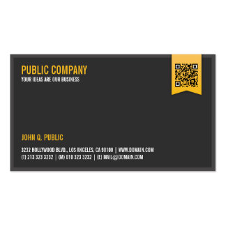 QR-Código corporativo elegante Tarjetas De Visita