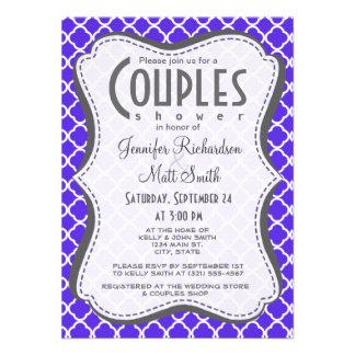 Quatrefoil violeta azul comunicado personal
