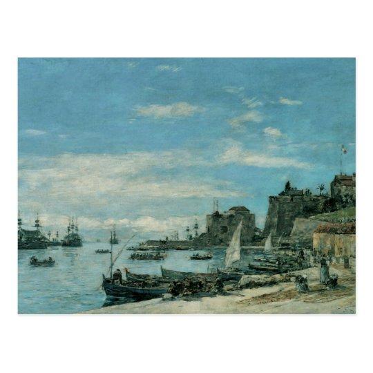 Quay en Villefranche, 1892 Postal