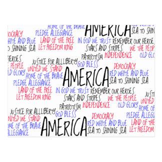 Qué América significa a mí Postal
