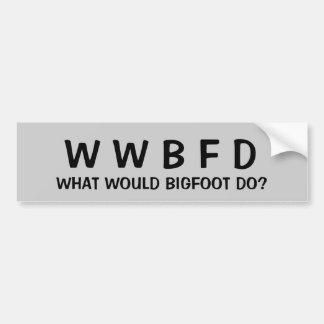 ¿Qué Bigfoot haría? Pegatina Para Coche