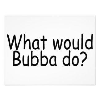 Qué Bubba haría Comunicados Personalizados