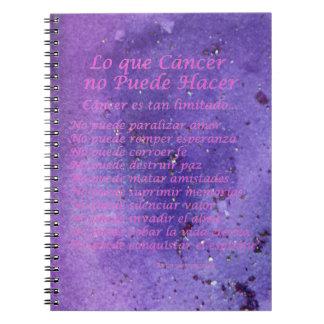 Que Cáncer de Lo ningún cuaderno de la púrpura de