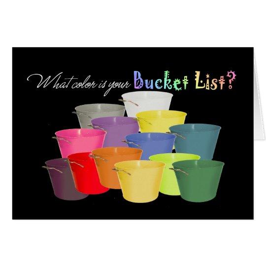 ¿Qué color es su lista del cubo? Tarjeta Pequeña