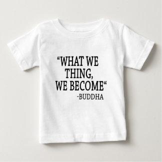 Qué cosa nosotros hacemos camiseta de bebé
