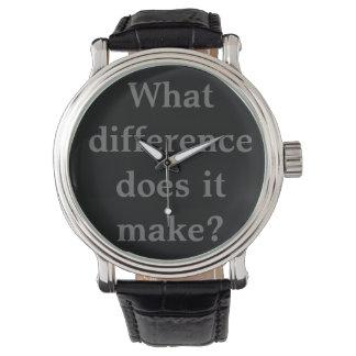 ¿Qué diferencia? Reloj De Mano