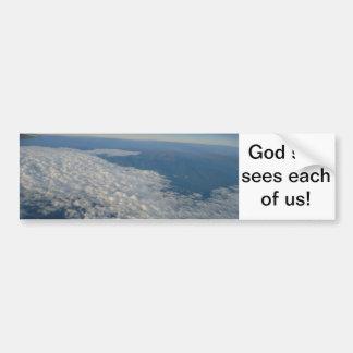 Que Dios hizo del EL Mundo Pegatina De Parachoque