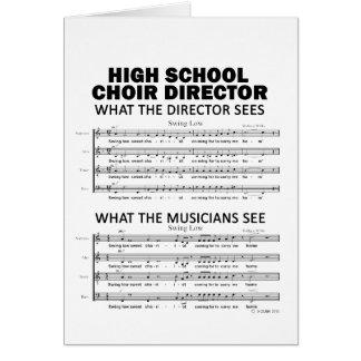 Qué el coro de la High School secundaria considera Tarjeta