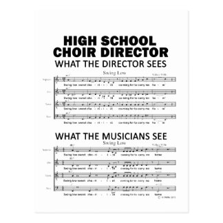 Qué el coro de la High School secundaria considera Tarjeta Postal