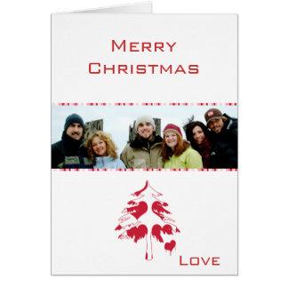 Qué Felices Navidad de un salvador y su foto de Tarjeta De Felicitación