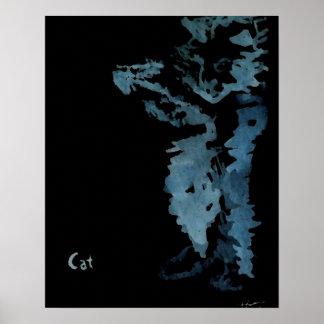 Qué gatos hacen en el poster de la noche