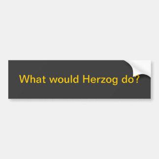 ¿Qué Herzog haría? Pegatina Para Coche