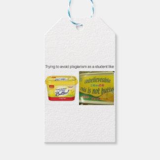 Que intenta evitar plagia etiquetas para regalos