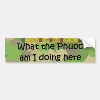 Qué la pintada del casco de Phuoc Etiqueta De Parachoque